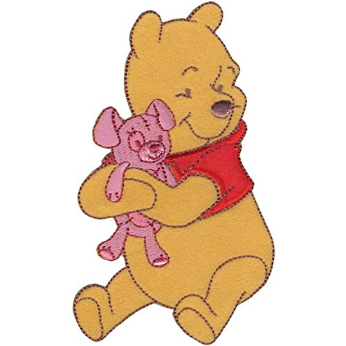 - Wrights Disney Winnie The Pooh Pooh Hugging Bear Iron-On Applique