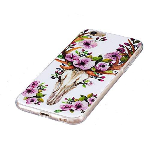 Voguecase® für Apple iPhone 6 Plus/6S Plus 5.5 hülle, Schutzhülle / Case / Cover / Hülle / TPU Gel Skin mit Nachtleuchtende Funktion (Pflaumen/Hirsch 02) + Gratis Universal Eingabestift