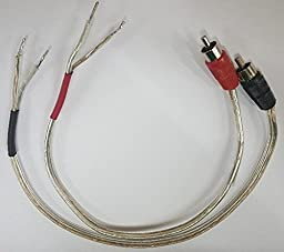 IEC 18 AWG 6\' Speaker Wire Pair with RCA Males - Black/Red