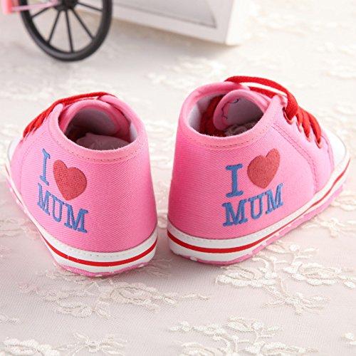 Lindo Infantil Con Calzado Lona Zapatillas Deporte Antideslizante Bebé 18 Suave Auxma Meses Por Zapatilla Rosado 0 De A wIIqzSU