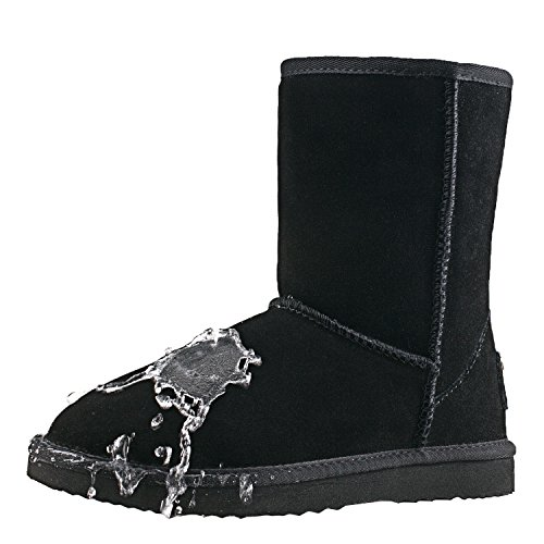 Shenduo Stivali Scarpe A da gamba corta neve Uomo Nero D4927 Caldo Classico Invernali CFUxCwqa