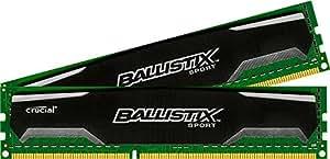 Crucial Ballistix Sport 8GB Kit (4GBx2) DDR3 1600 MT/s (PC3-12800) CL9 @1.5V UDIMM 240-Pin Memory BLS2K4G3D169DS1J