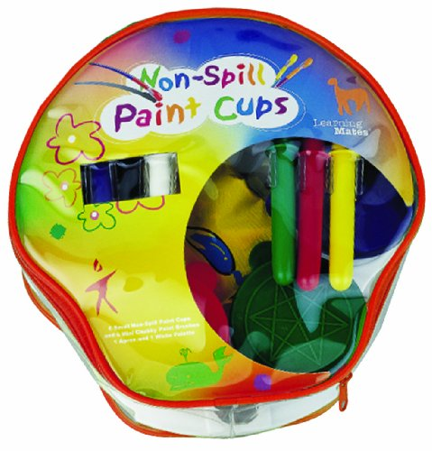 Non Spill Paint (6 Small Non-spill Paint Cups and 6 Mini Chubby Paint Brush)