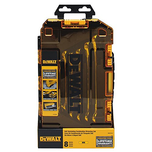 - DEWALT Combination Ratcheting Wrench Set, 8-Piece Metric (DWMT74734)
