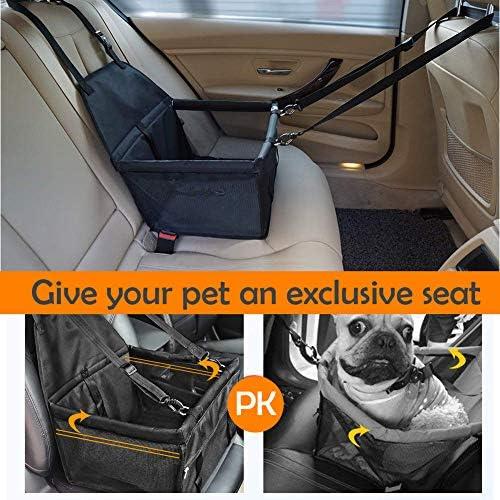 Saponintree Hunde Autositz Wasserdicht Atmungsaktiv Haustier Hund Katze Auto Booster Sitzmatte Deluxe Tragbare Reise Auto Tragetasche Für Kleine Hunde Katzen Welpen Haustier
