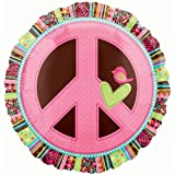 Anagram International Hippie Chick Peace Sign Package Balloon, 18""