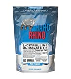 Hard Rhino L-Citrulline DL-Malate 1:1 Powder, 500 Grams (1.1 Lbs), Unflavored, Lab-Tested, Scoop Included by Hard Rhino
