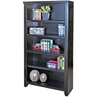 Martin Furniture Tribeca Loft Black Bookcase, 60 - Fully Assembled