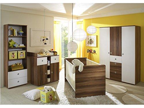 Babyzimmer Wiki 4-teilig Walnuss