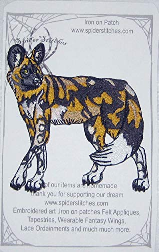African Wild Dog Painted Hunting Dog Iron on Patch Animal
