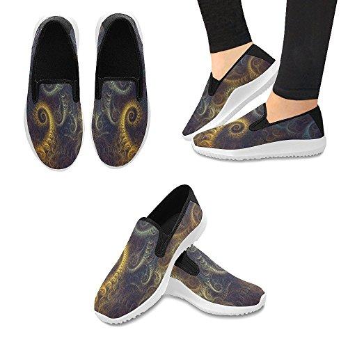 InterestPrint Womens Slip-On Loafer Shoes Canvas Fashion Sneakers Multi 1 eUifZ