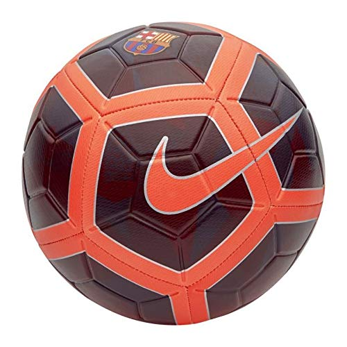 Nike FC Barcelona Strike Soccer Ball, Night Maroon/Hyper Crimson (Messi Puzzle)