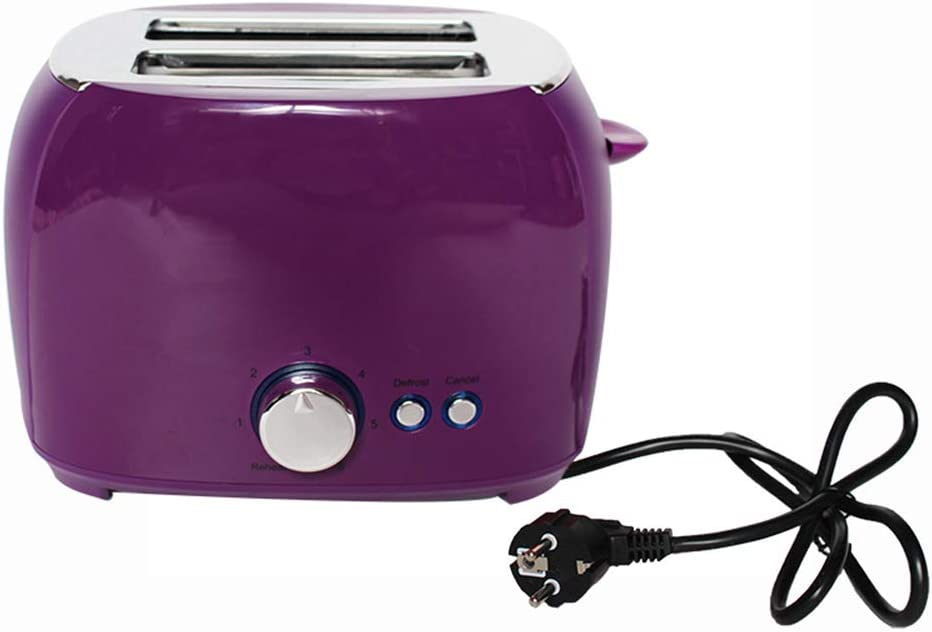 Toaster 2 Slice, Retro Small Toaster,Cancel, Defrost Function, Extra Wide Slot Compact Stainless Steel Toasters for Bread Waffles, Ideal Gift for Family & Friends,Purple