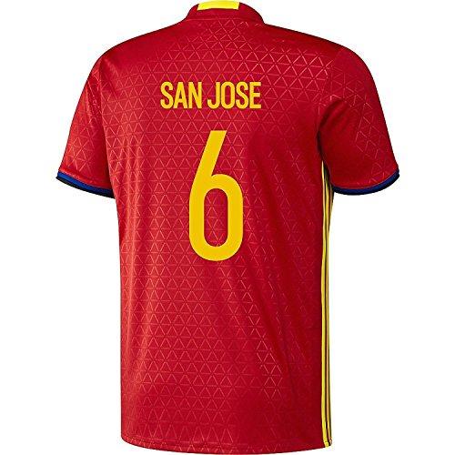 修士号偽装する圧縮するadidas San Jose #6 Spain Home Jersey UEFA EURO 2016 (Authentic name & number) /サッカーユニフォーム スペイン ホーム用 サン?ホセ