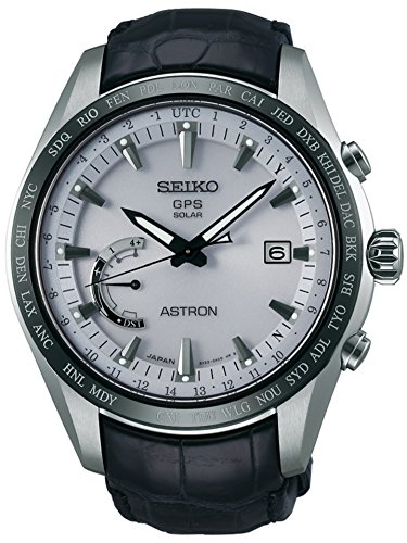 Mens Seiko Astron GPS Solar World Time Titanium Watch SSE093