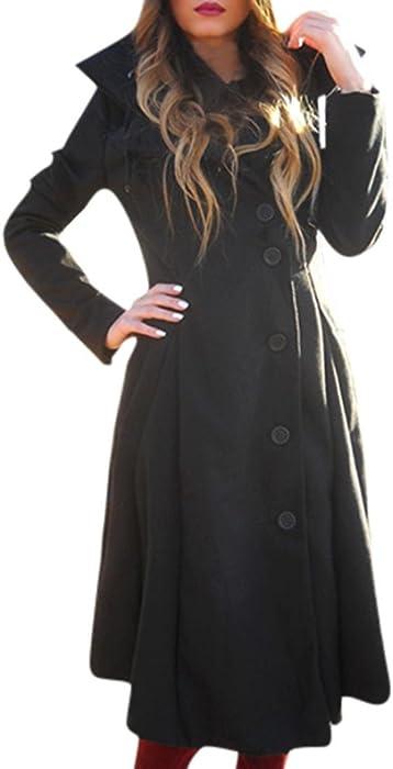 Wollmantel Kolylong® Damen Lange Mantel Frauen Elegant Nmw8n0
