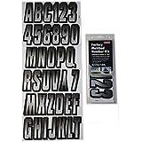 Hardline Products SIBKG300 Silver/Black Number Factory Matched Registration Kit