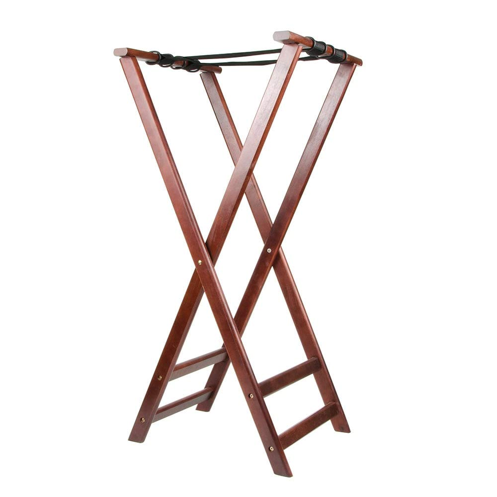 Update TSW-38 38'' Folding Tray Stand - Cherry Wood Finish
