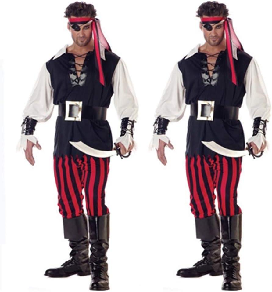 FHTD Disfraz De Halloween Carnaval Adulto Cosplay Piratas Traje ...