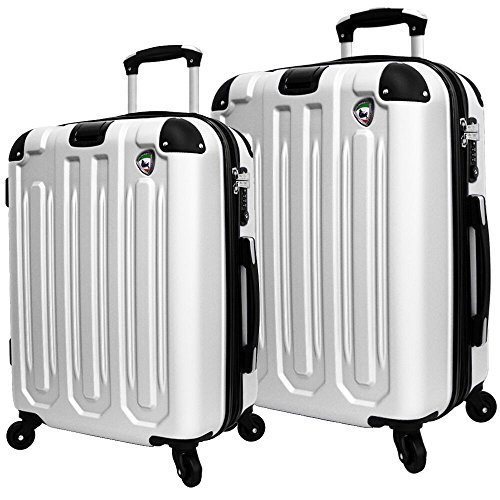 Mia Toro Italy Regale Composite Hardside Spinner Luggage 2pc
