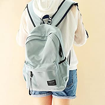 Backpack bag fashion backpack female students leisure trend mens bag