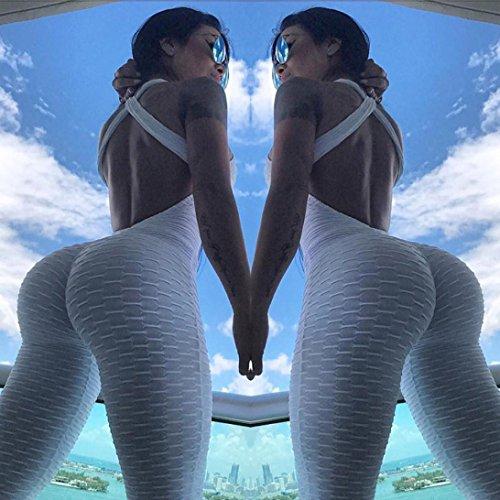 Women Yoga Pants,Vanvler Ladies { Sexy Sport Jumpsuit } Running Fitness Workout Gym Trousers (XL, White) by Vanvler Women Yoga Pants (Image #8)
