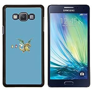 Divertidos dragones- Metal de aluminio y de plástico duro Caja del teléfono - Negro - Samsung Galaxy A7 / SM-A700