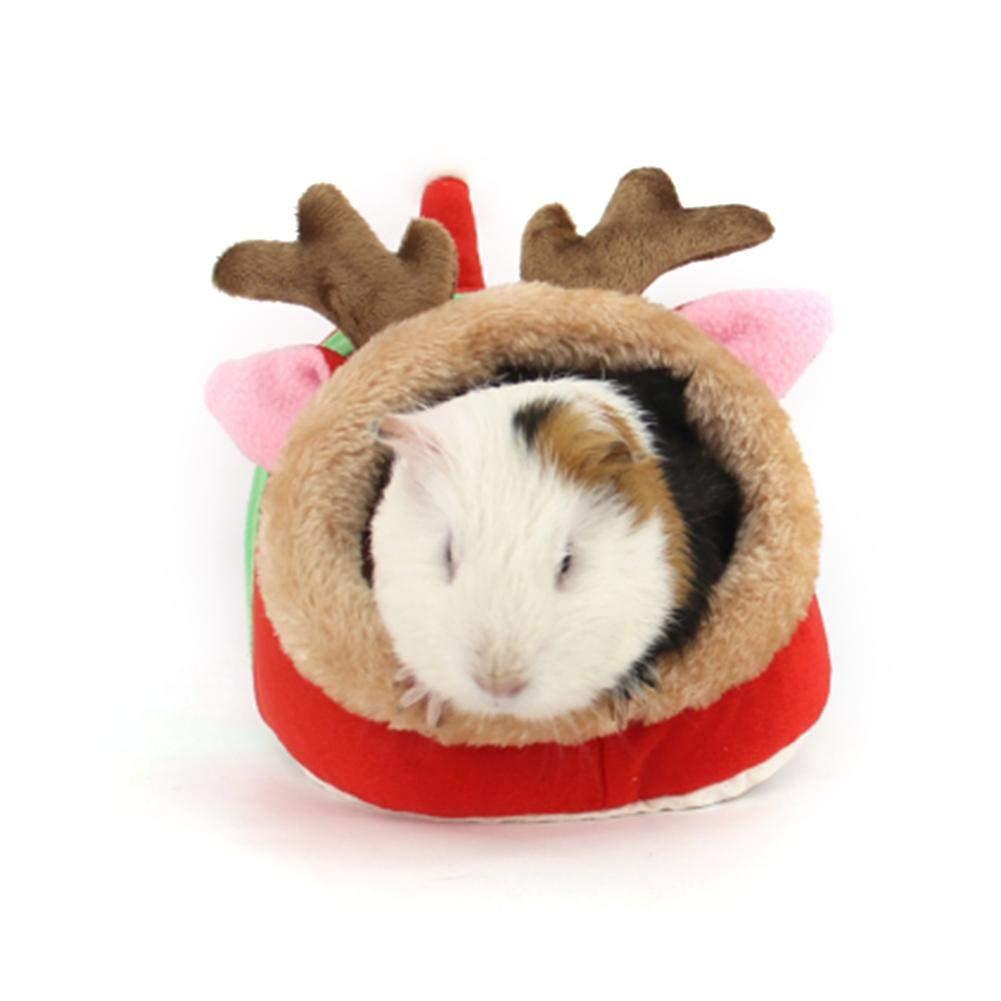 Oddity Animales pequeños Winter Warm Bed House Cage Juguetes para pequeñas ratas Hamster