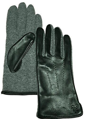 Lauren Ralph Lauren Leather & Wool The Touch Gloves Small