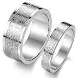 Mens Womens Stainless Steel Vintage Silv