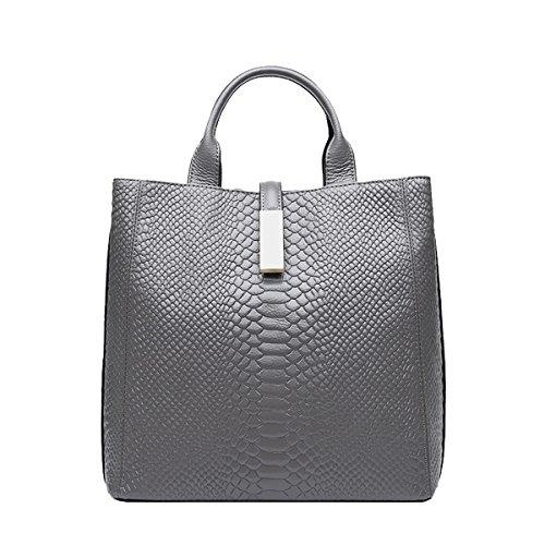 Soft Women Grey Shoulder Bag Leather Multiple Q0875 Handbags Pockets Dissa 5ERqzHax