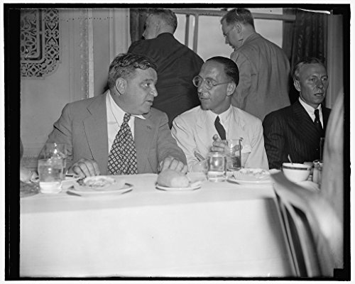 24 x 18 Art Canvas Wrapped Framed Print of Talking The Italian Situation Over. Washington, D.C, July 21. Italy's Highest Ranking Citizen in The United States and New York City 1938 Harris & Ewing 48a ()