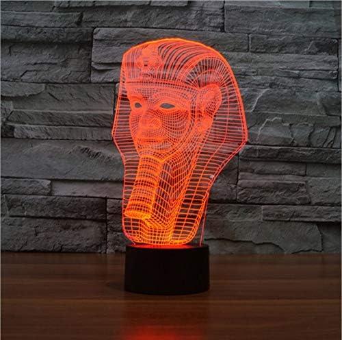 3D faraone egiziano peluche luce notturna 7 colori led lampada da scrivania giocattolo regalo