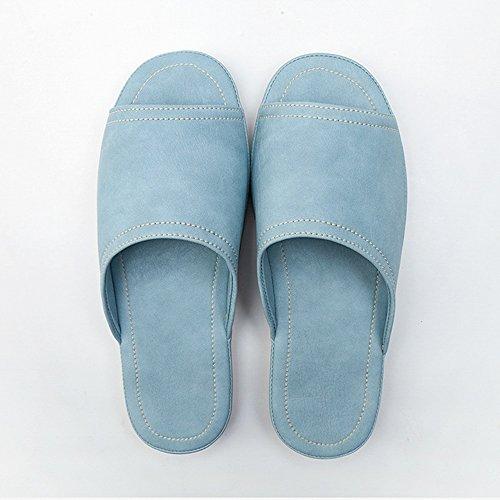 PU femmes usables bain couleurs Pantoufles Pour 7 imperméables intérieures domicile chaussures A à facultative taille femmes Chaussons HAIZHEN Femmes glissants Couples option pour en d'été wgqT7O