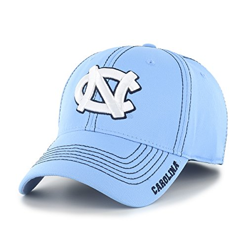 NCAA North Carolina Tar Heels Adult Start Line Ots Center Stretch Fit Hat, Large/X-Large, Columbia