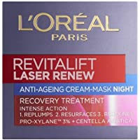 欧莱雅 Revitalift Laser Renew Anti - Ageing Cream - Mask Recovery Treatment Night 50ml [ 海外直邮 ]