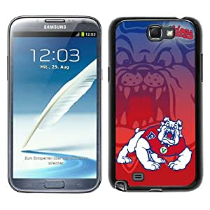 Ncaa Mountain West Conference Mwc Football Fresno State Bulldogs 6 Black New Style Custom Samsung Galaxy Note 2 N7100 Cover Case