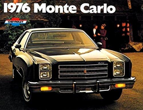 1976 Chevrolet Monte Carlo Original Car Dealer Sales Brochure Catalog - Chevy