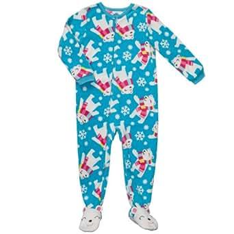 Amazon Com Carter S Infant Girls Fleece Footed Teal Polar
