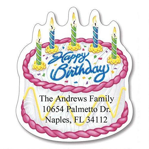 Birthday Self-Adhesive, Flat-Sheet Diecut Address Labels (6 Designs)