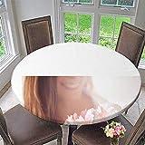 Mikihome Premium Tablecloth Female Sex Everyday Use 50''-55'' Round (Elastic Edge)