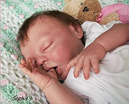 So Sleepy Sophie 16/'/' Lifelike Baby Doll by Ashton Drake New