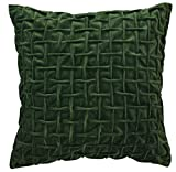 Split P Designs Velvet Pillow 18'' Green