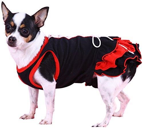 Doggy Dolly D220 Hundekleid Korsett, schwarz, Größe : XXS: Amazon.de:  Haustier