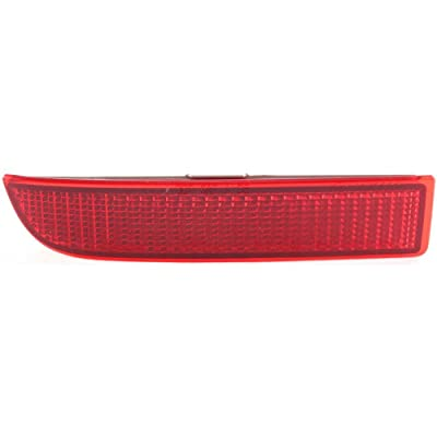CAPA Certified Bumper Reflector Rear Light Lamp Left Side Compatible with Toyota RAV-4 06-12 / Xd 08-14: Automotive