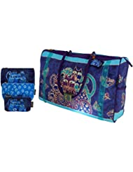 Laurel Burch Travel Bag and Cosmetic Bags Set, Indigo Cats