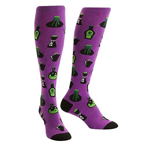 Sock It To Me, Knee High Funky Socks: Food and Drink (Dark Purple)