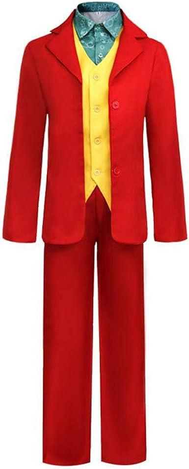 Hivia Joker Cosplay Traje Chaqueta Pantalones Chaleco Camisa Conjunto Completo 4PCS para Hombres S-4XL: Amazon.es: Ropa y accesorios