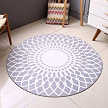 Simple,modern mat/circular carpet/living room,[study],blanket for bedroom/household soundproof carpet-C 100x100cm(39x39inch)
