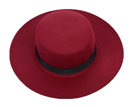 5ad6b5c20655c Image Unavailable. Image not available for. Color  East Majik Wide Brim  Flat Top Cap Hat - Wine Red
